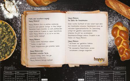Happy Backerei Flyer Tasarımı