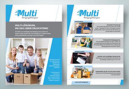 Multi Reinigung Flyer Tasarımı