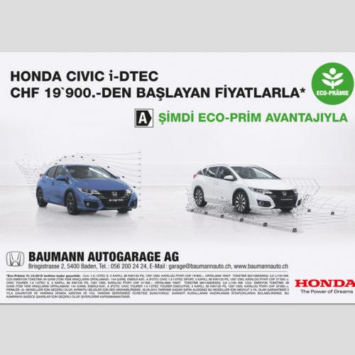 Honda Baumann İlan Tasarımı